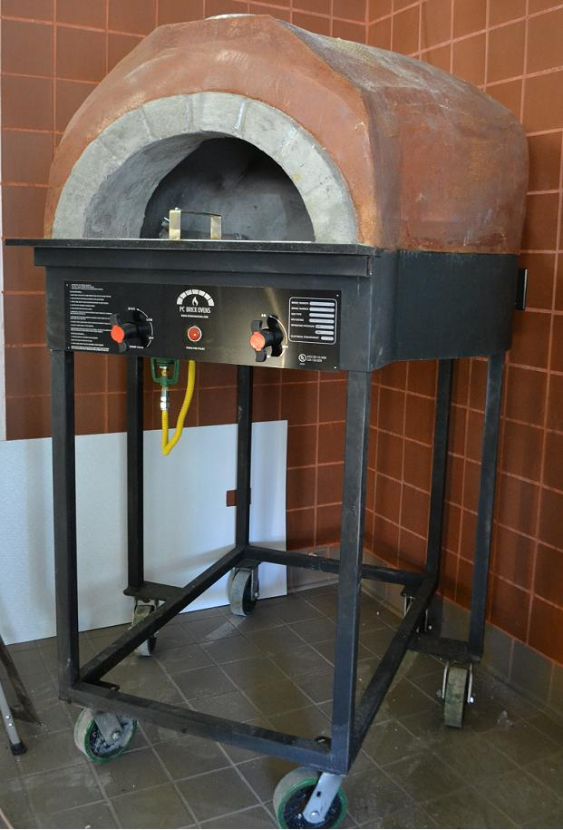 Wood fired oven at South Gate Brewing Co.