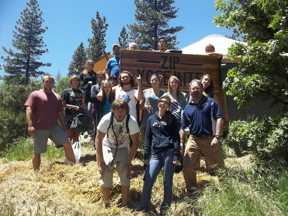 Zip Yosemite -  YHS seniors in EMT class get to zip for free 2013 - Photo by Kellie Flanagan