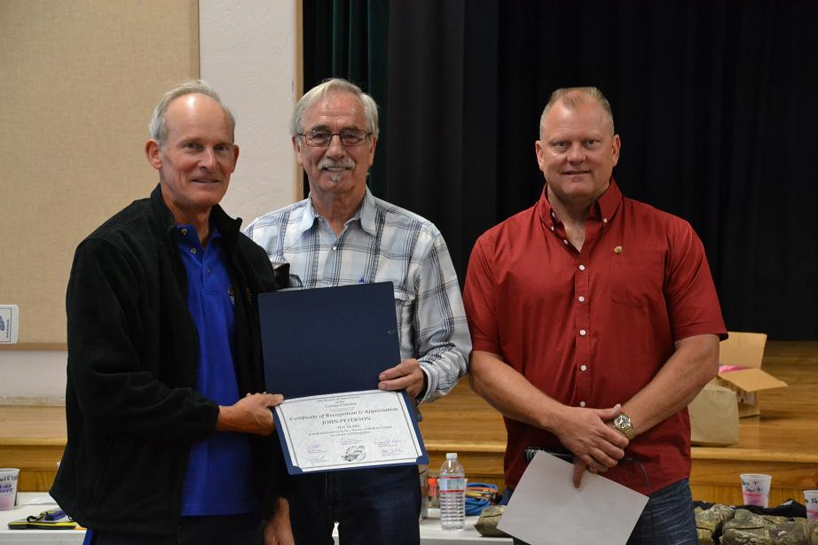 John Peterson honored for 10 years of service as a Paid Call Firefighter