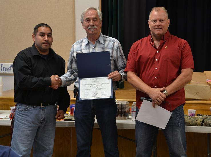 Juan Martinez honored by Tom Wheeler and Don Stein for 5 years service as PCF