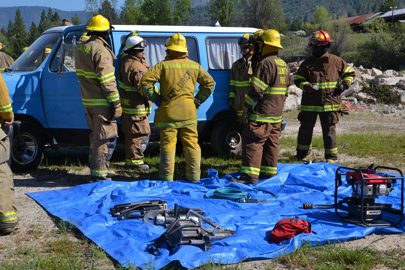 Training on the use of the Jaws of Life - photo by Gina Clugston