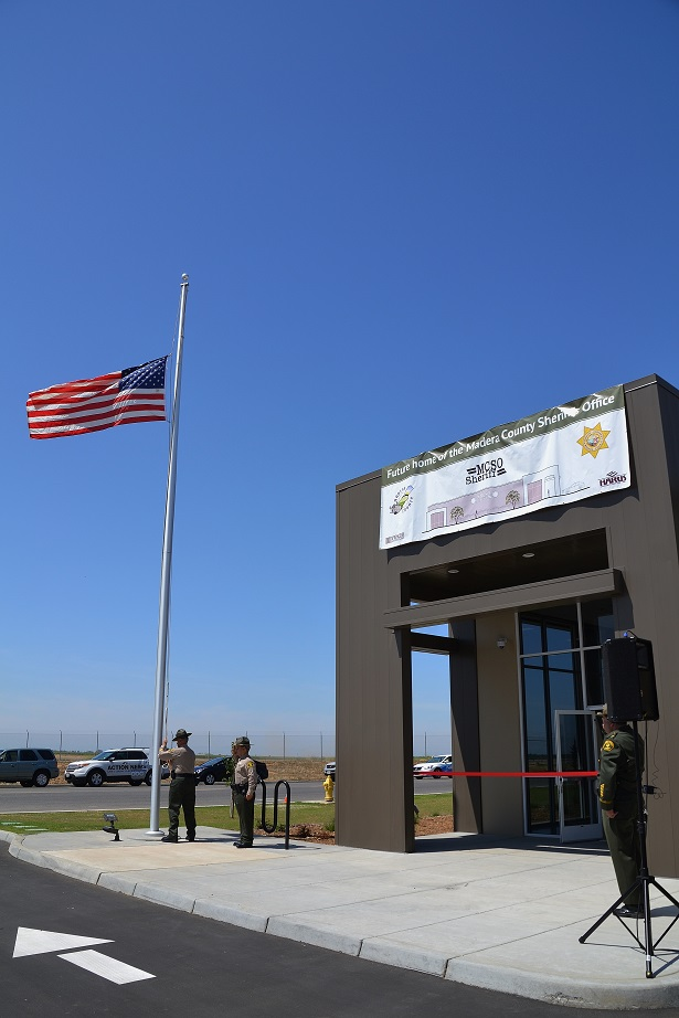Raising the flag at new Sheriffs Office 5-26-15