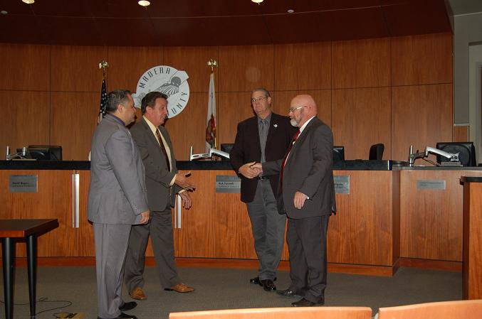 Todd Miller with Board of Supervisors - photo by Carol Eggink