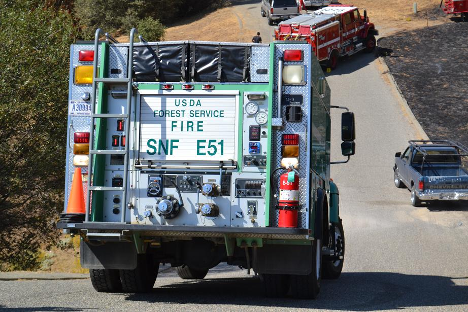 Acorn Fire Forest Service Engine 9-28-12