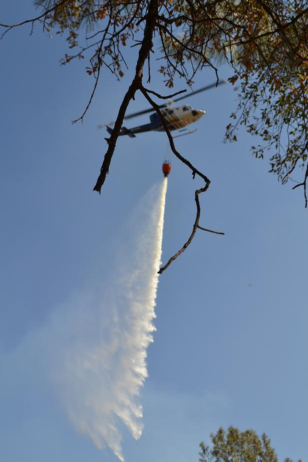 Acorn Fire Helicopter water drop 9-28-12