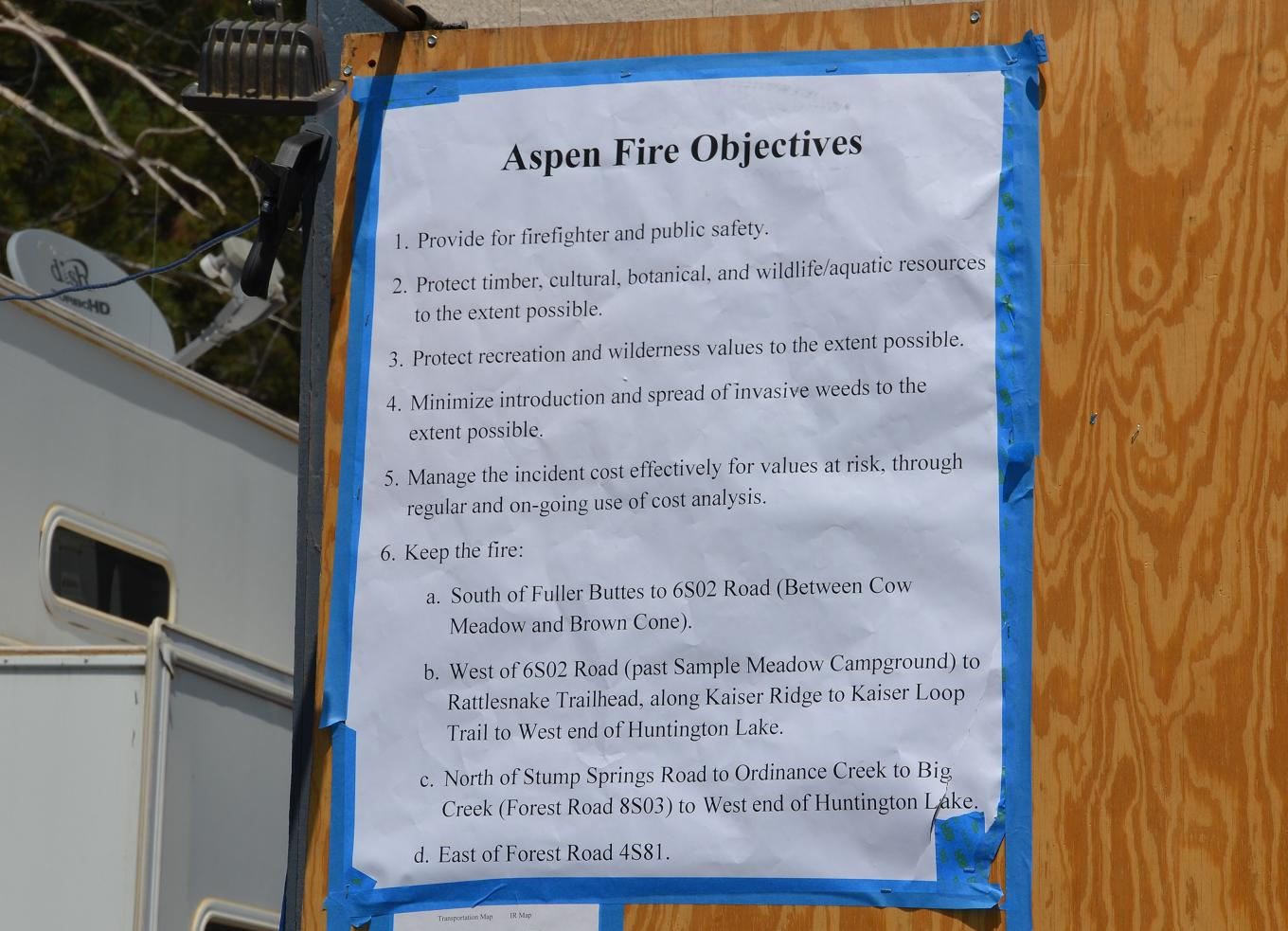 Aspen Fire Objectives
