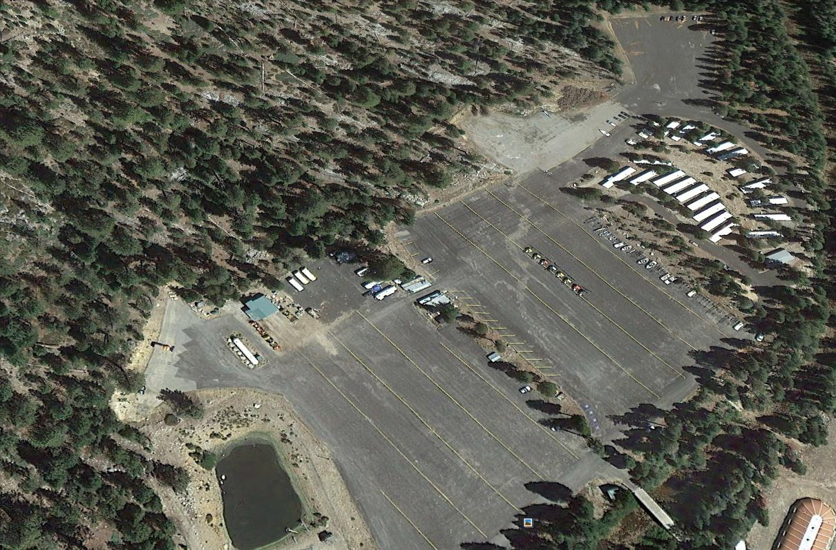 China Peak Resort Parking Lot - google earth