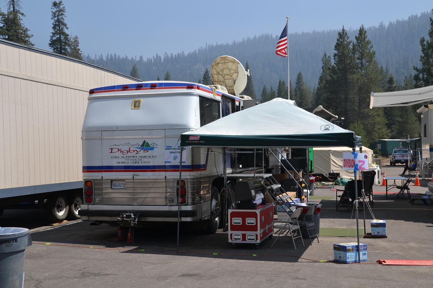 Mobile Copy Unit at Aspen Fire Camp