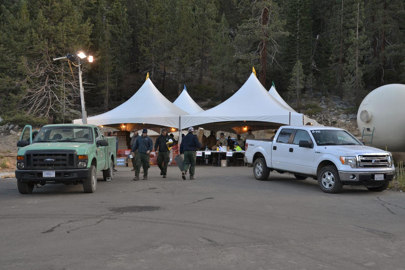 Supply tent at Aspen Fire