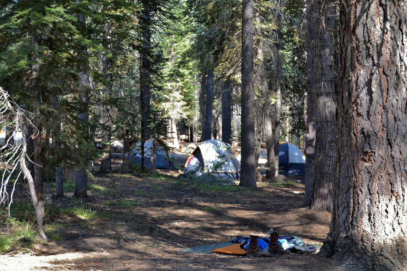 Tents in Rancheria Campground