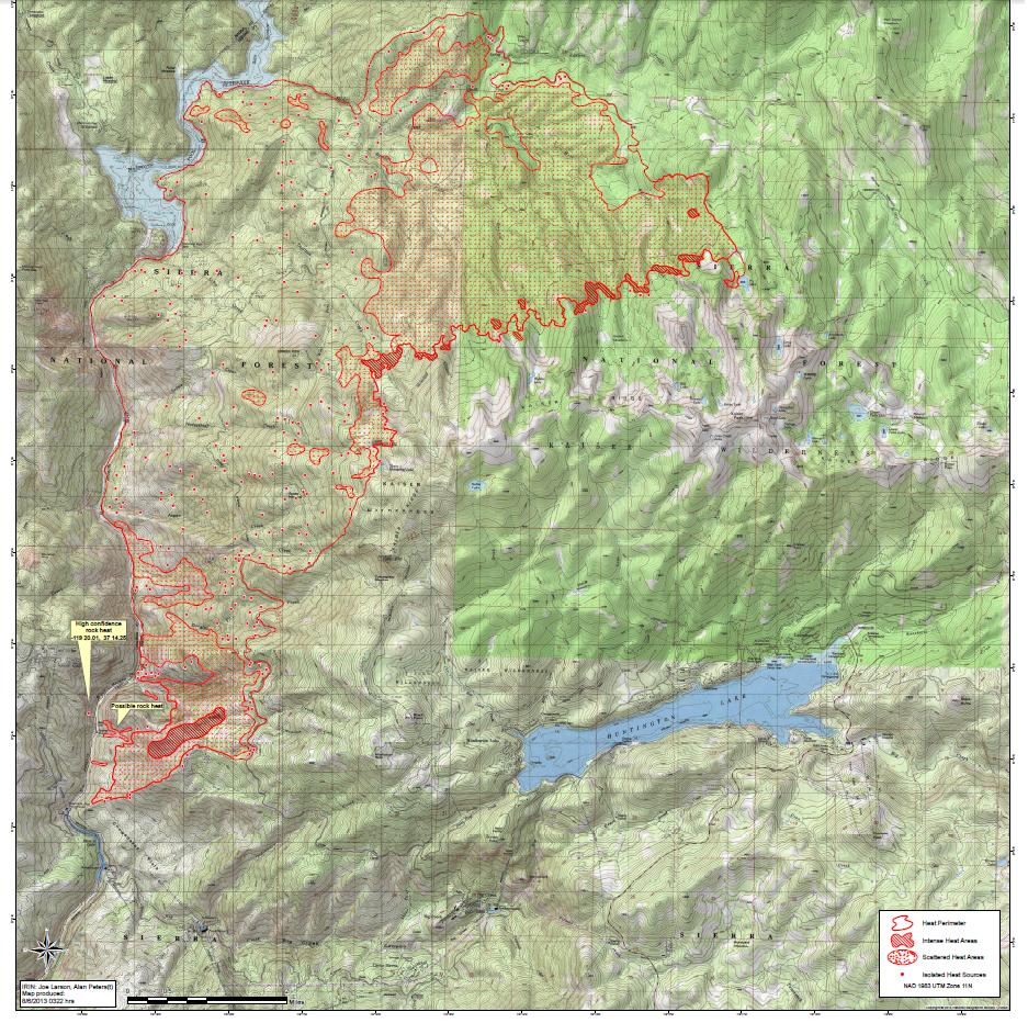 Infrared map of Aspen Fire 8-6-13