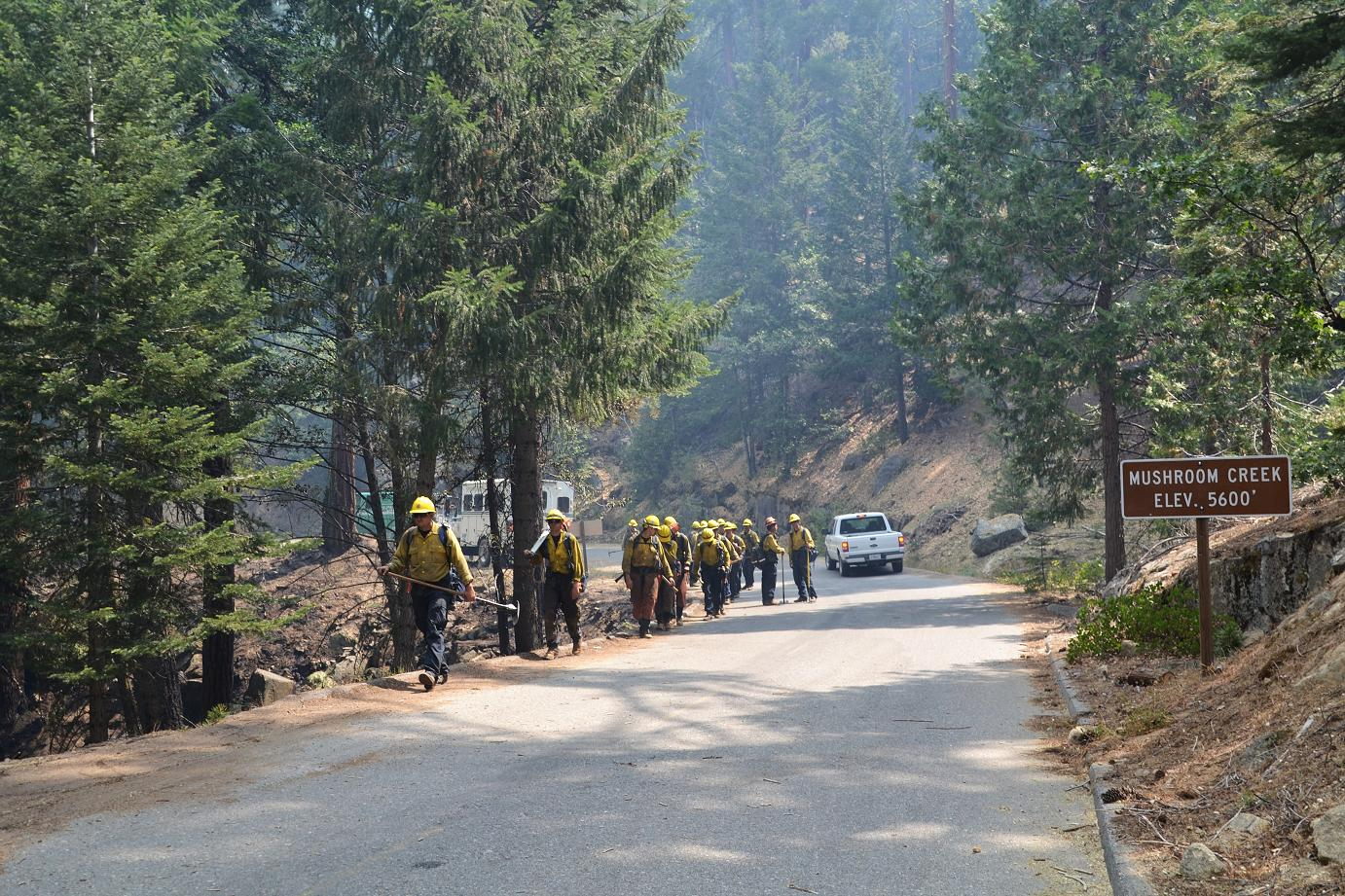 Crews along the road - photo by Gina Clugston