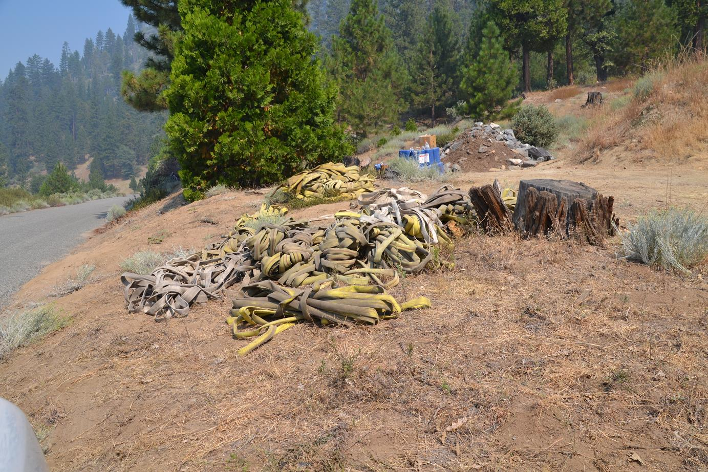 Used hose to be returned to camp and rerolled - photo by Gina Clugston