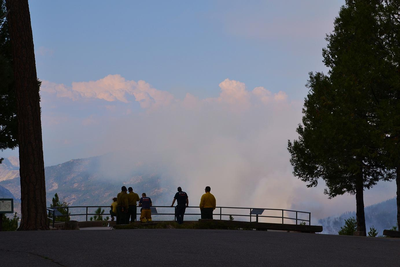 Firefighters at Mile High - photo by Gina Clugston