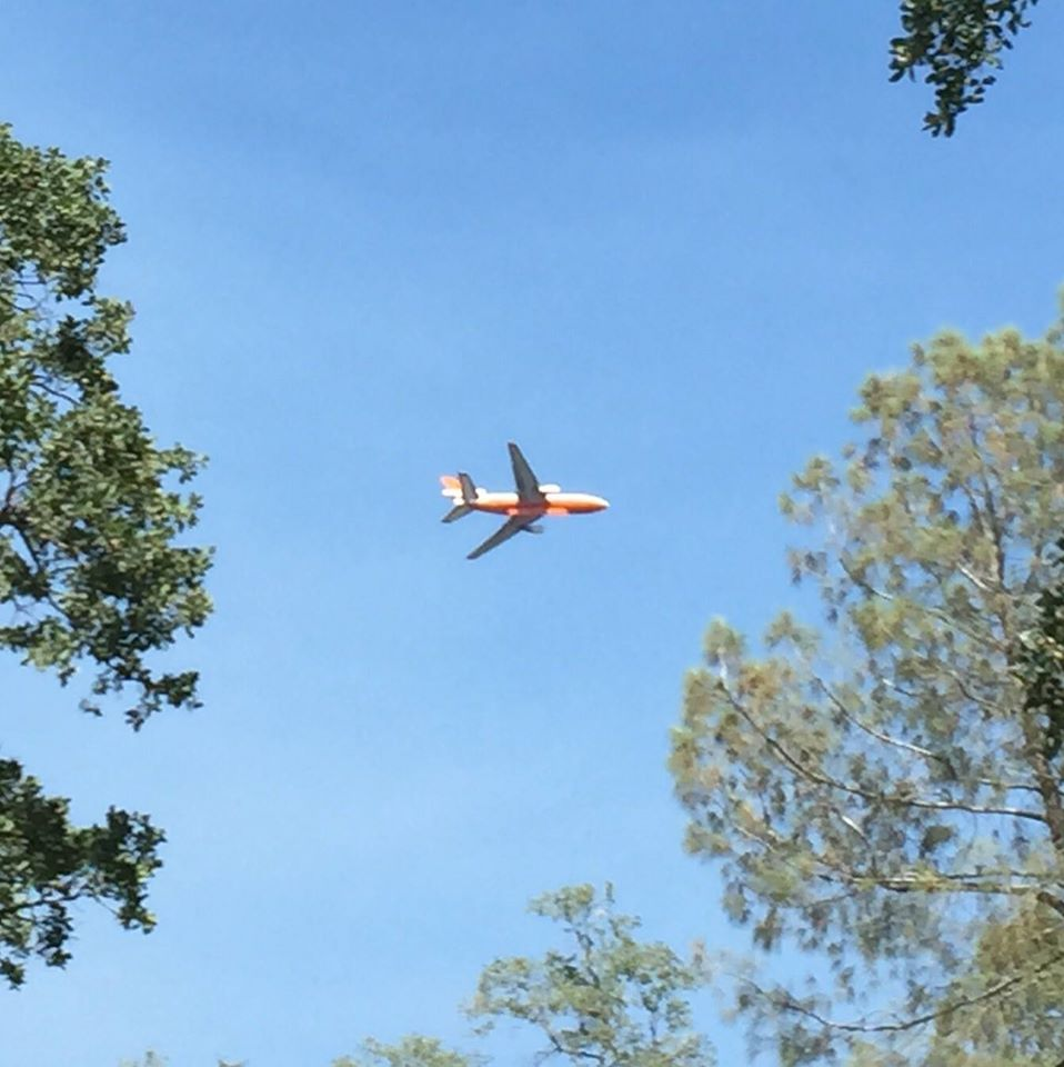 Lisa Clark sent this about 4 30 June 19 saying she was thrilled when this flew over her house
