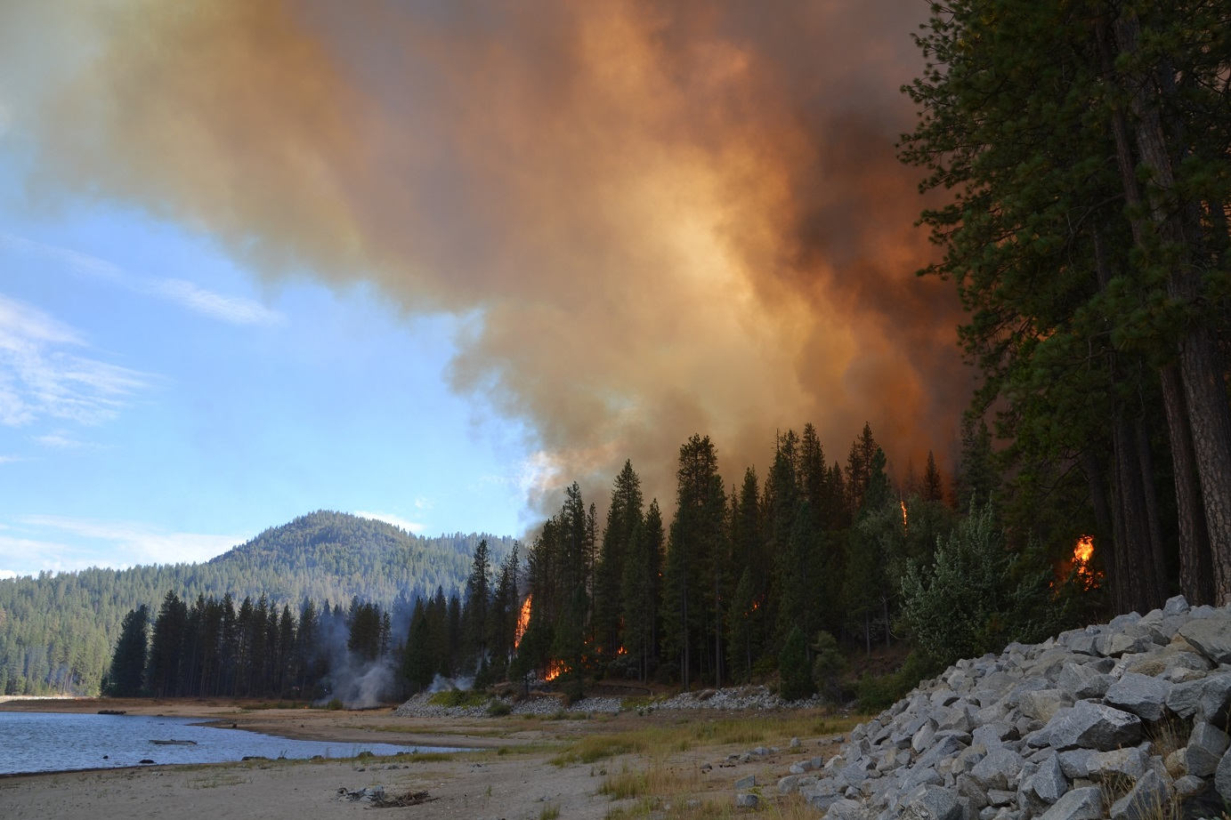 Courtney Fire at Road 222