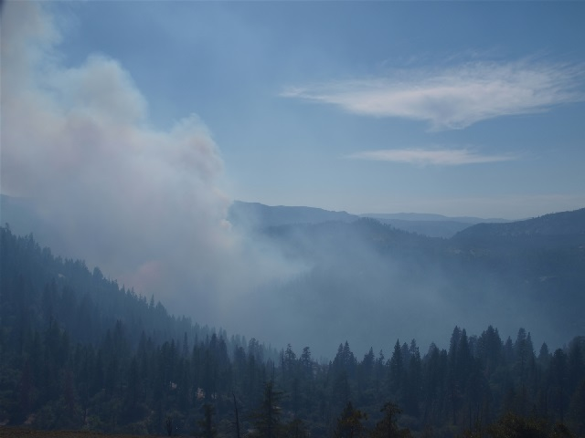 Dog Rock Fire from Turtleback Dome - photo NPS