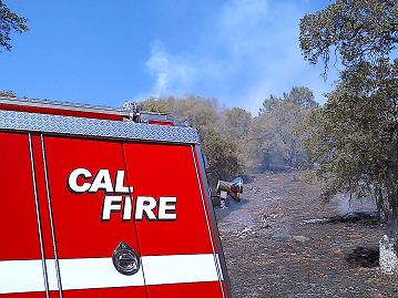 Fire On Road 415 9-11-12 Calfire