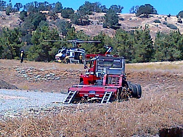 Fire On Road 415 9-11-12 chopper and dozer trailer
