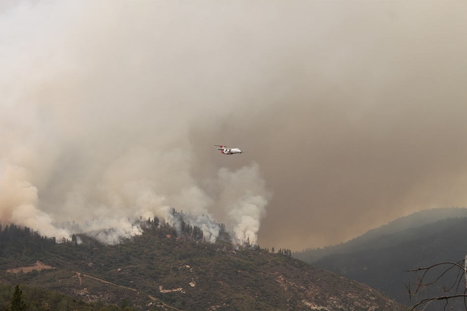 Air Ops fighting French Fire - photo courtesy Madera County Sheriff