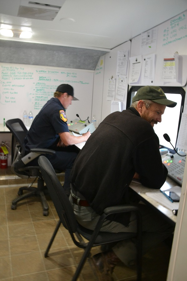 Communications Center at French Fire - photo by Gina Clugston