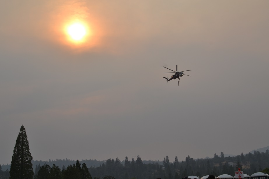 Helicopter over French Fire ICP