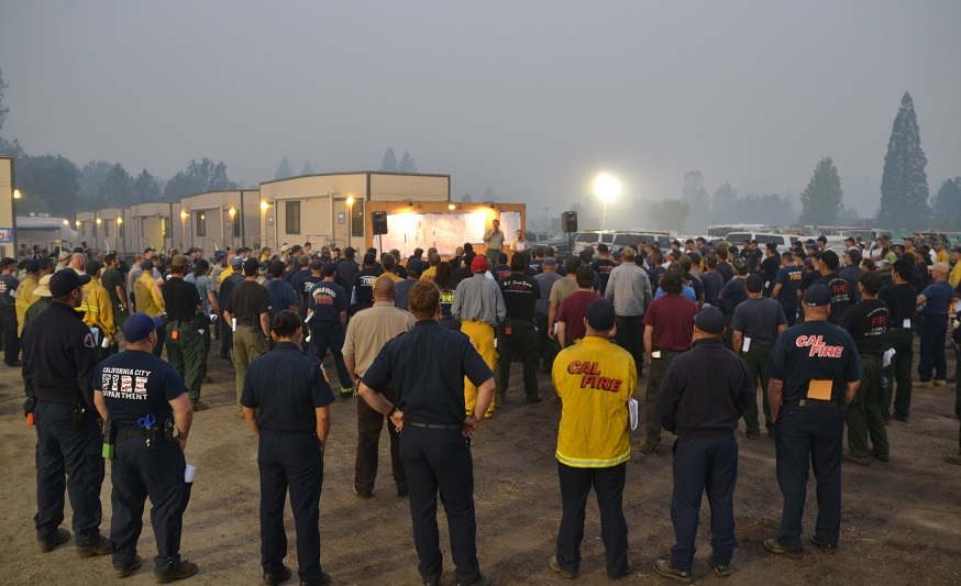 Morning Briefing French Fire - photo by Gina Clugston