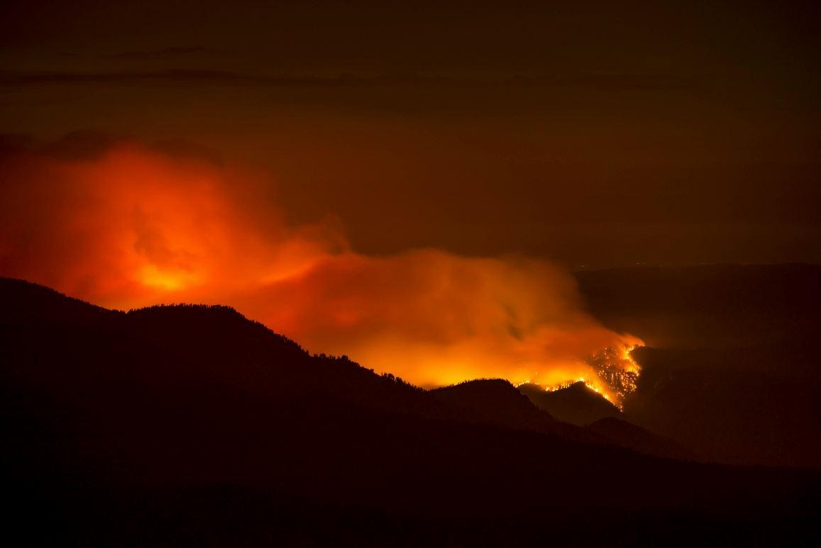 French Fire from Mt. Tom - photo by Marta