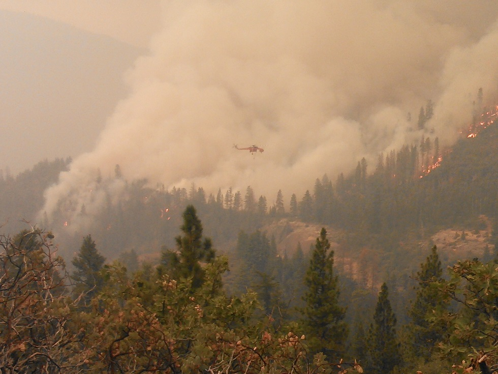 Helicopter over the French Fire 7-28-14