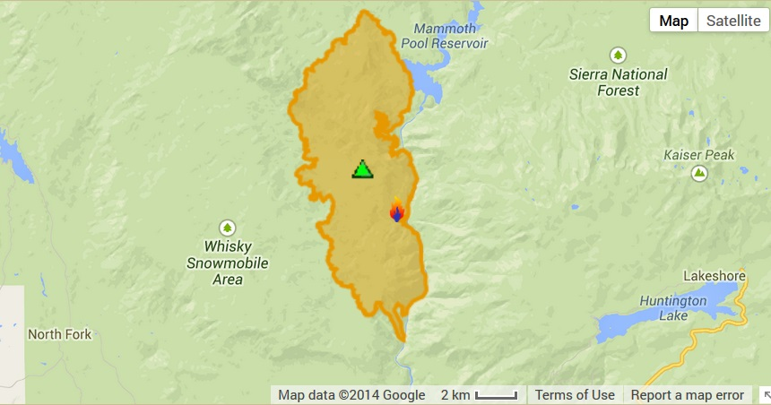 Perimeter map French Fire 8-3-14