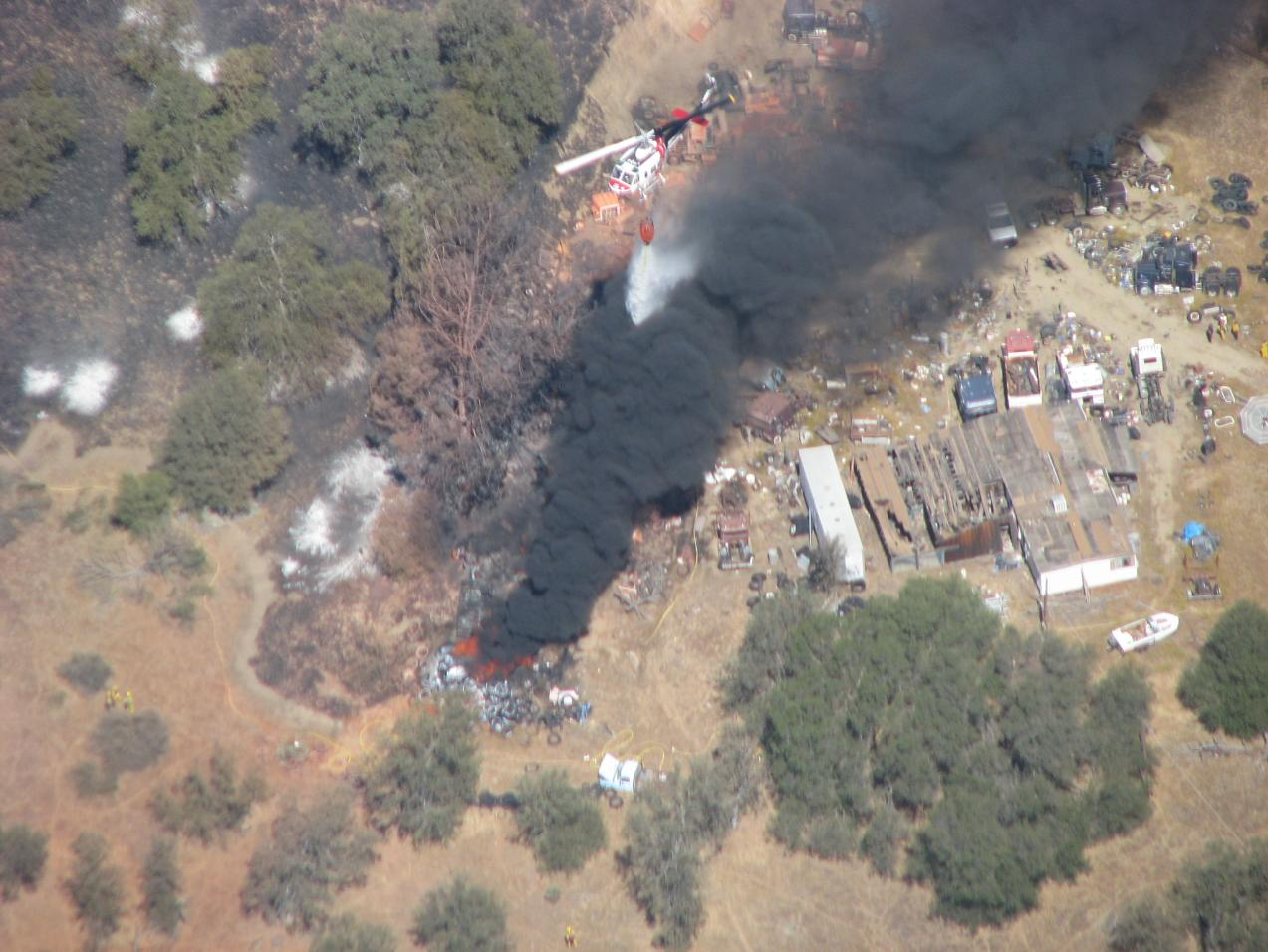 Helicopter over Gulch Fire - photo Cal Fire