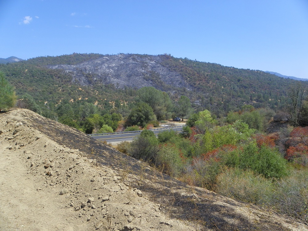 Looking out toward 41 from Oakhurst Rocks - photo by Kellie Flanagan 8 20 14