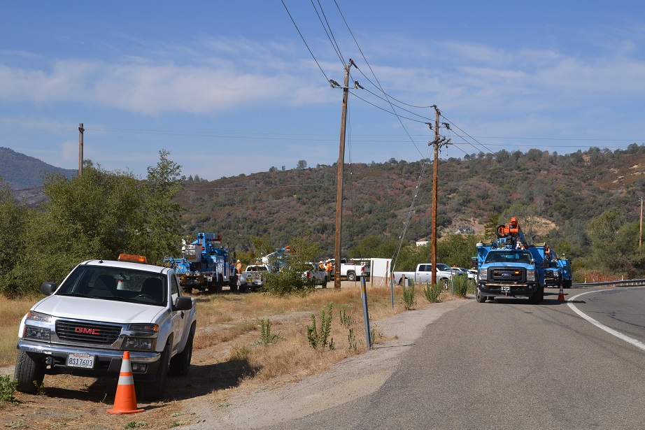 PGE staging on Highway 41