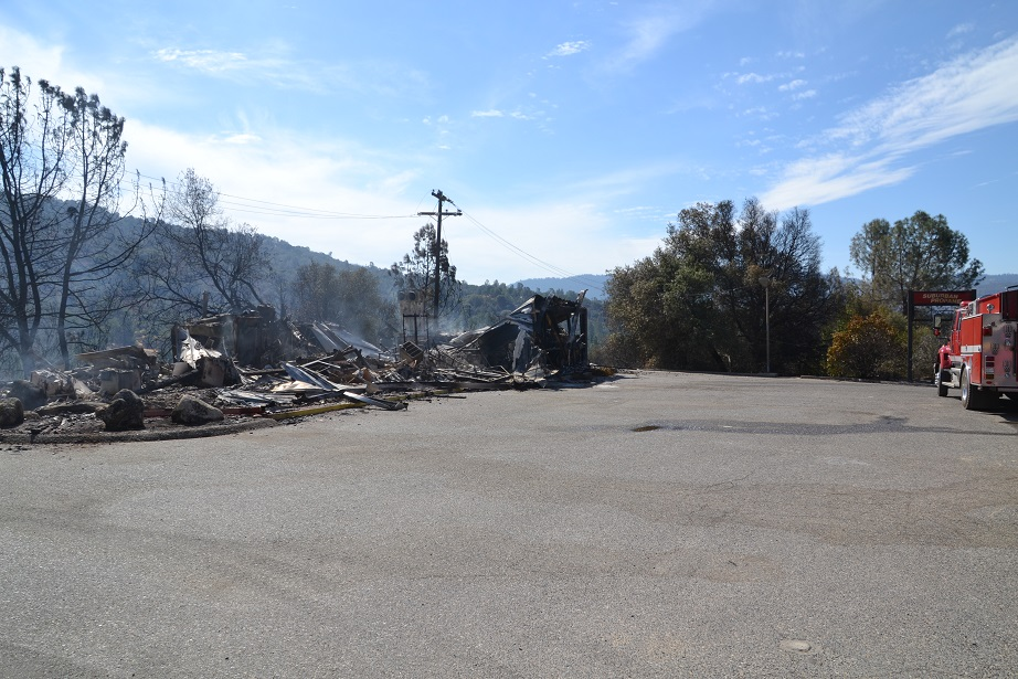 Suburban Propane building burned to the ground