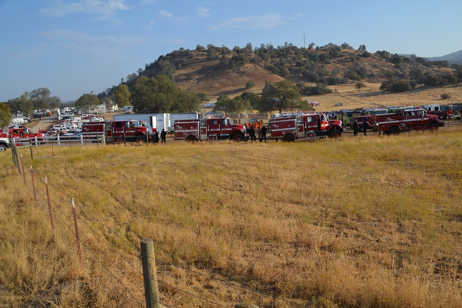 Engines at Base Camp Junction Fire