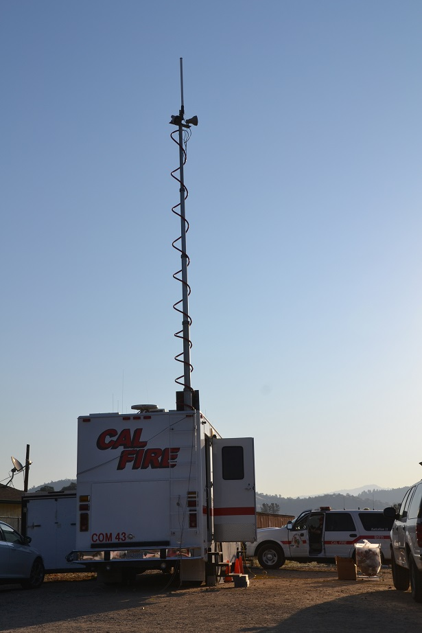 Mobile Communications Center Junction Fire Camp