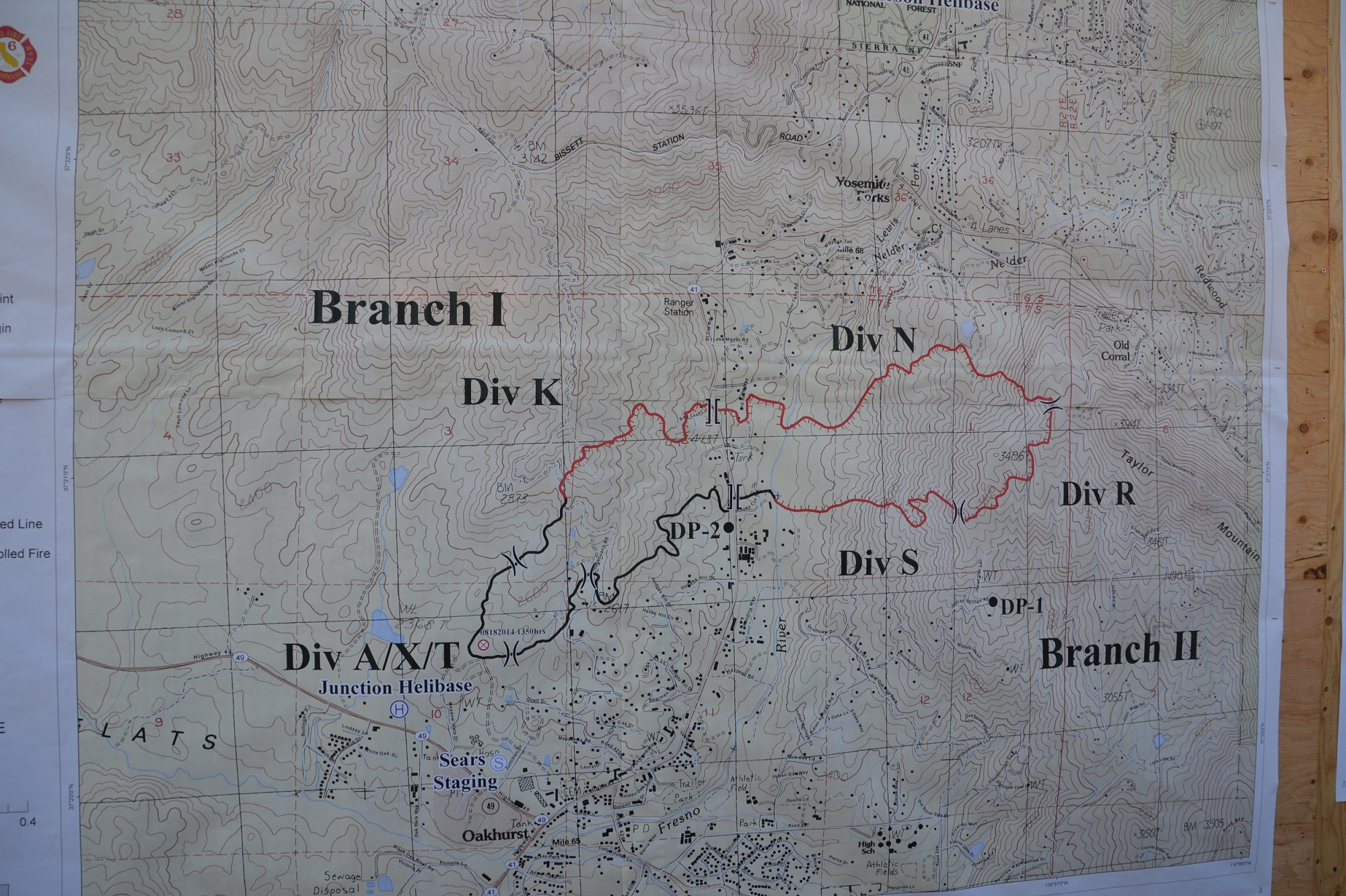 Perimeter map Junction Fire Wed 8-20-14