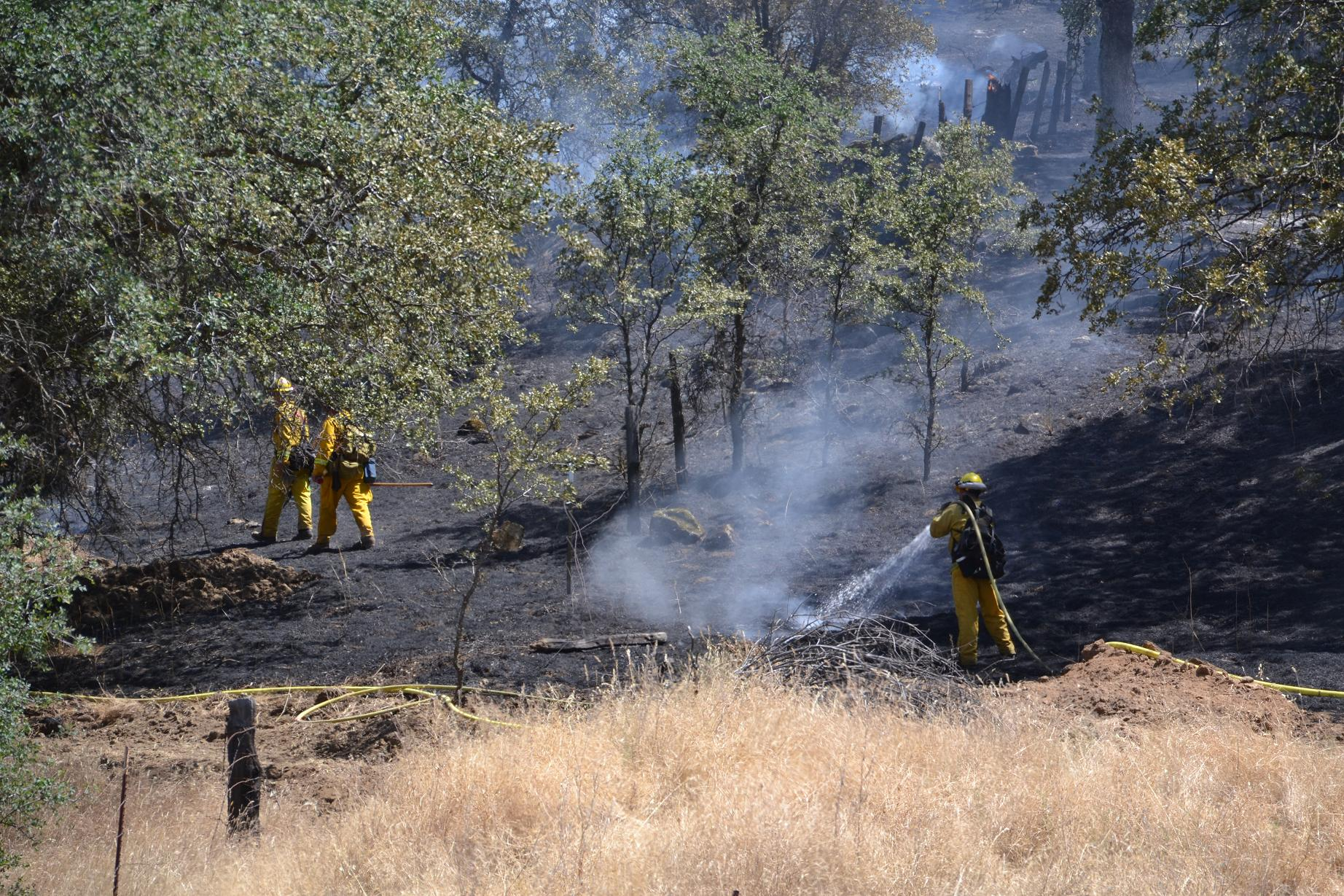Crews hitting the hot spots on the Lakes Fire - photo by Gina Clugston
