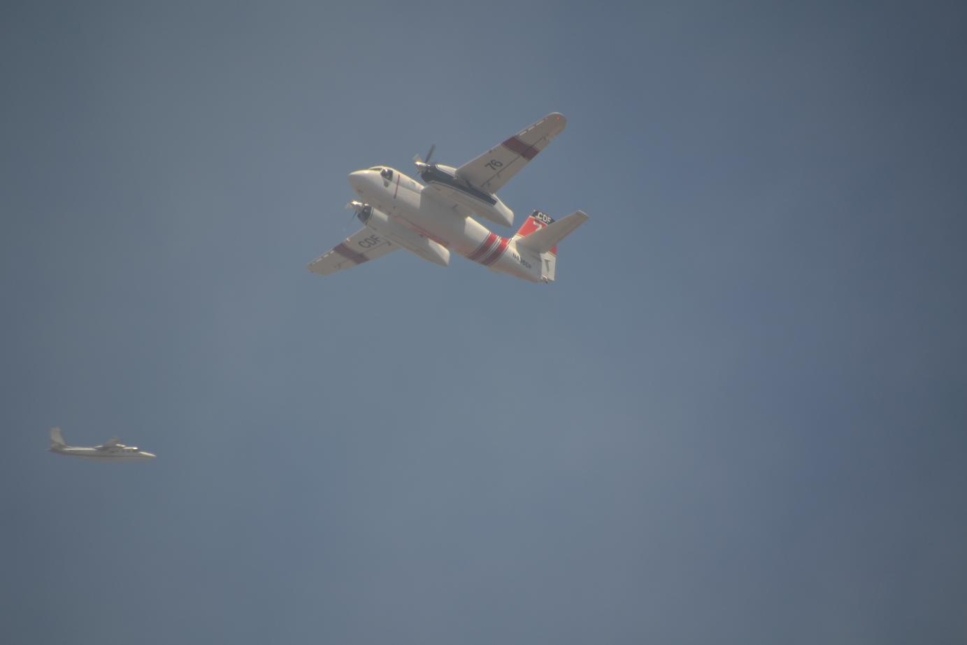 Planes over Lakes Fire - photo by Gina Clugston
