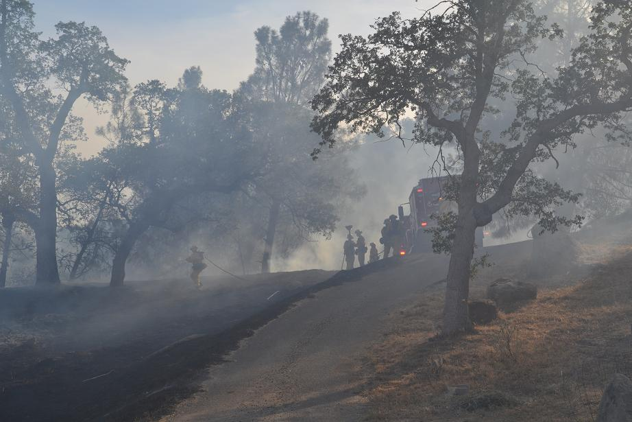 Driveway serves as fire break on North Dome