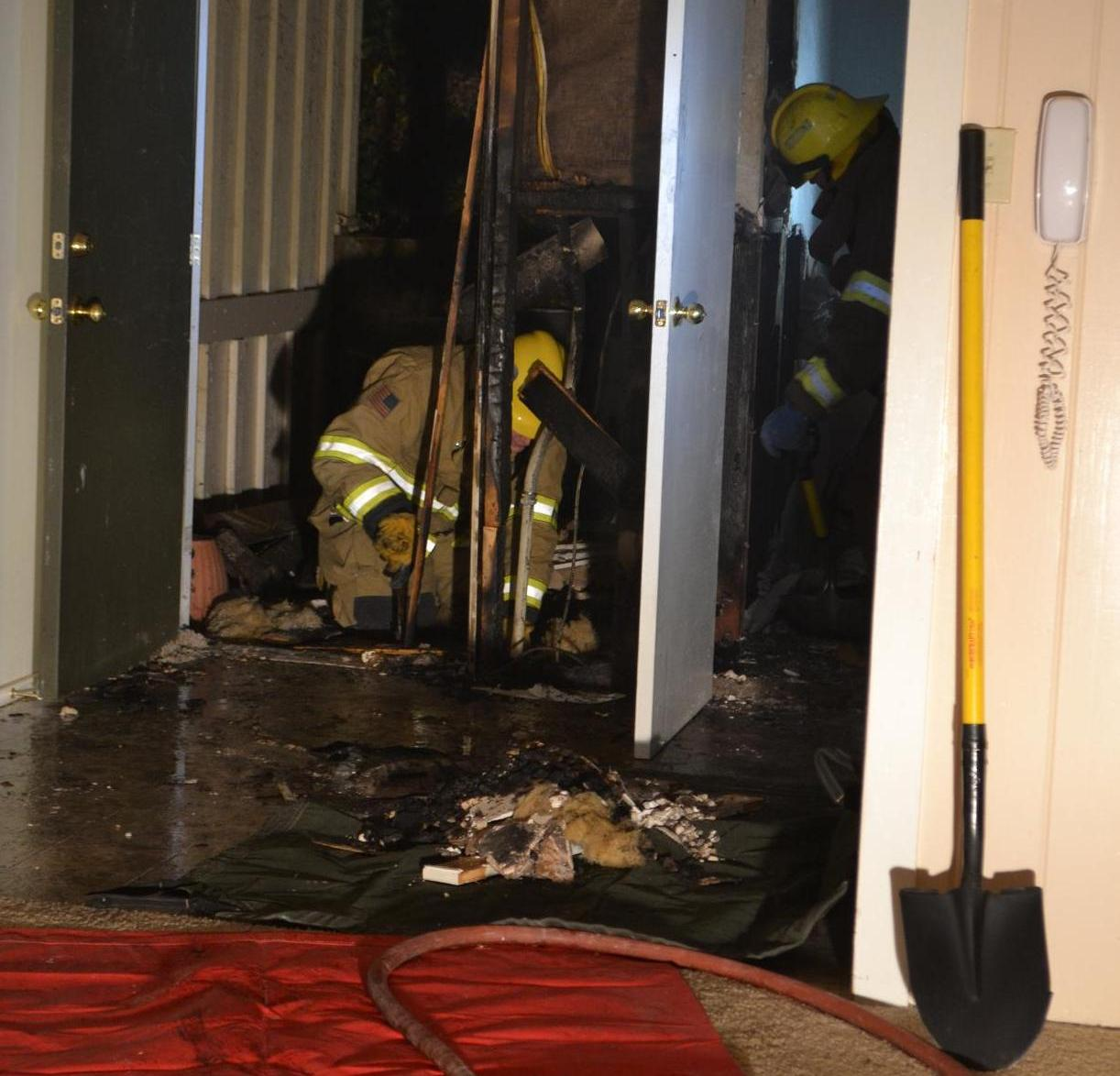 Fire in the Floor at Old Corral Fire