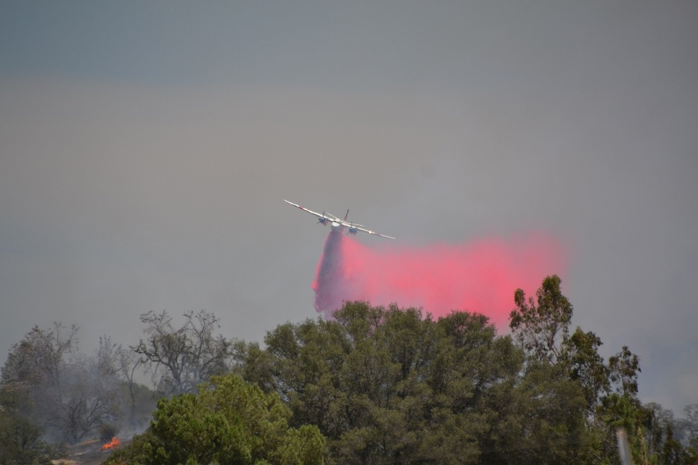 Air tanker over Red Fire - photo by Gina Clugston