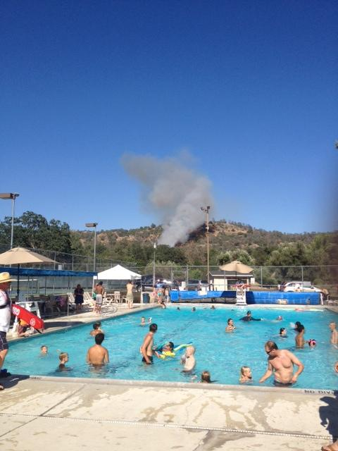 Smoke from the pool - photo sent by Johnny and Cynthia Stafford