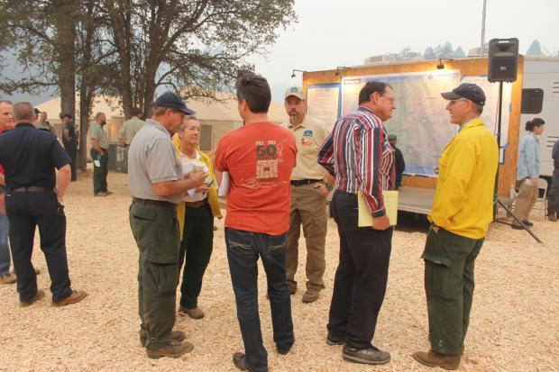 Rim Fire managers - photo USFS Mike McMillan