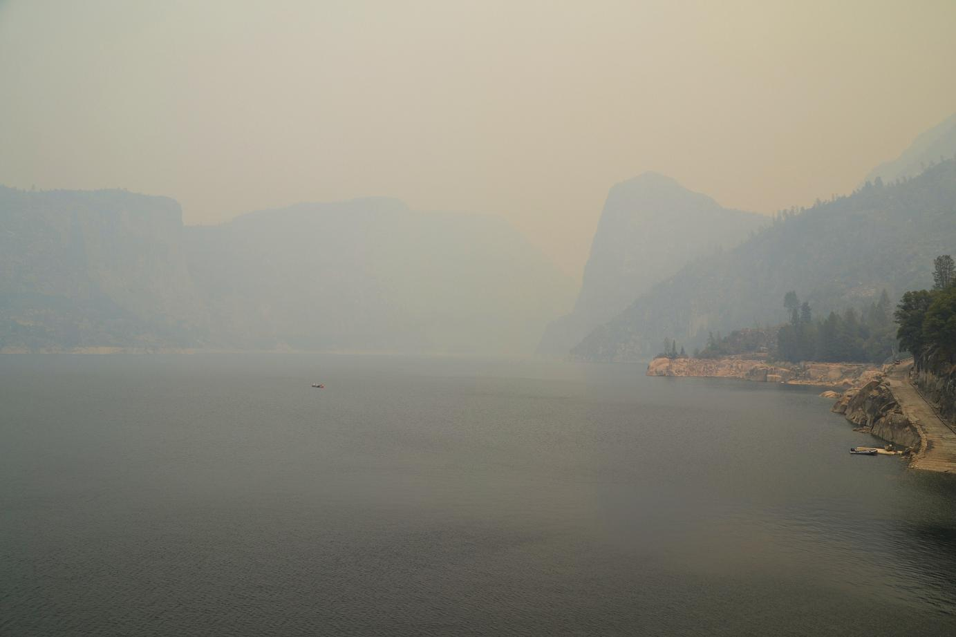 Hetch Hetchy from the dam - photo by Gina Clugston
