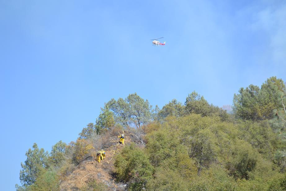 Walker Fire crews and helicopter 9-18-12