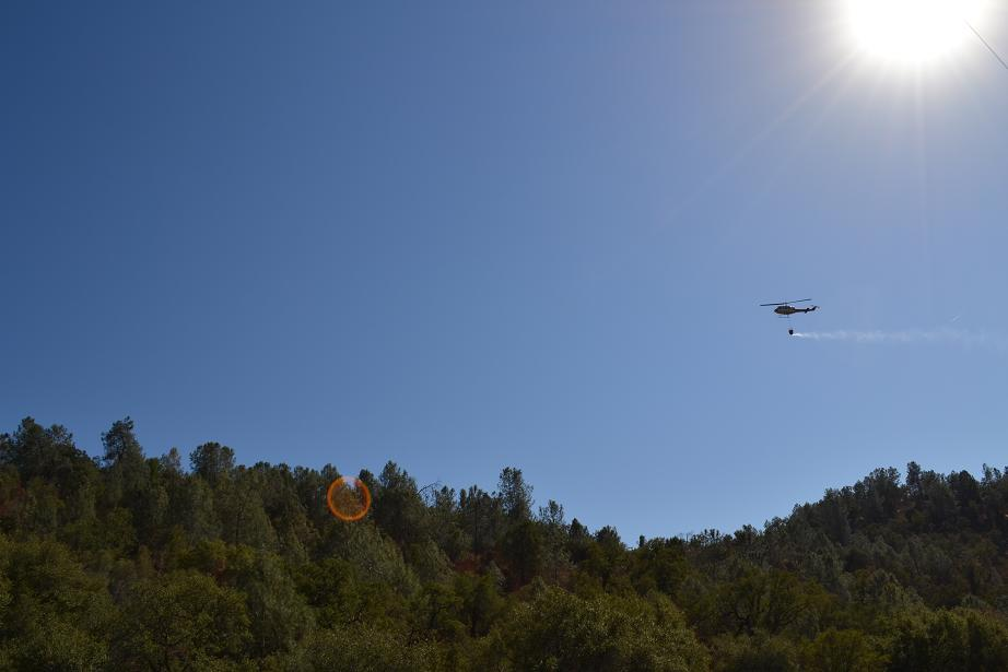 Walker fire helicopter in the sun 9-18-12
