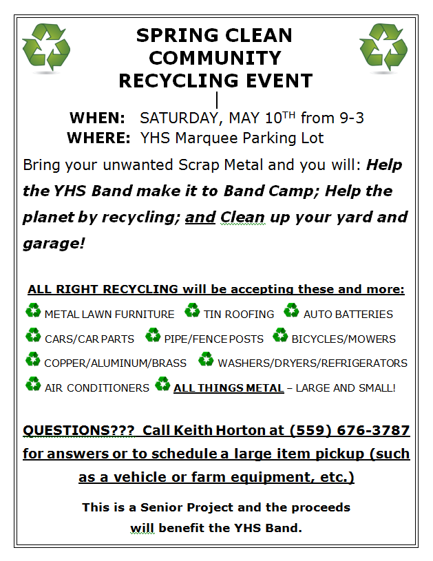Spring Clean Communtiy Recycling Event