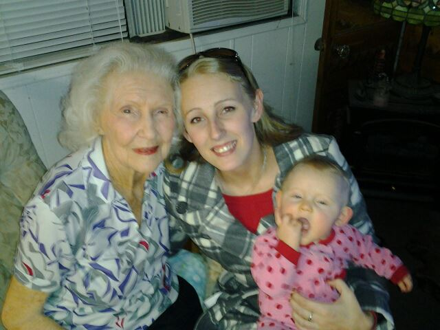Mandy and her Grandma with Abigail - Photo Courtesy Mandy Payne