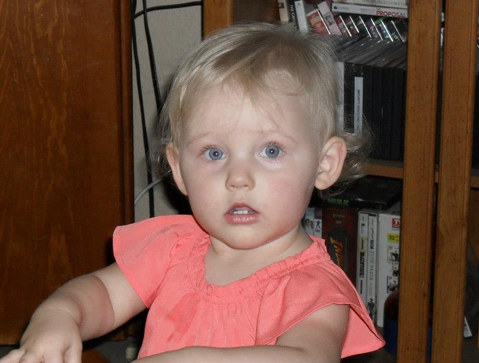 Mandys daughter Abigail Payne at 16 months - Photo courtesy Mandy Payne